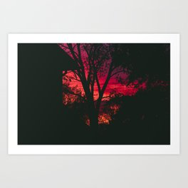 A Moody, Colorful Sunset Art Print