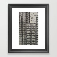 Skyscrapers Framed Art Print