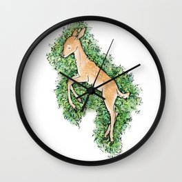 Resting Place - Fawn Wall Clock