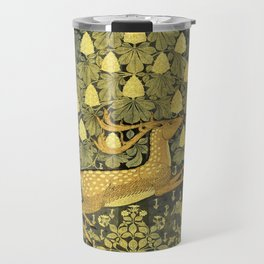 A Deer, A Rabbit and A Leafy Chestnut Tree Travel Mug