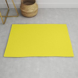 Yellow Highlighter Solid Summer Party Color Rug