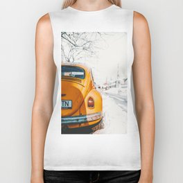 Yellow Taxi (Color) Biker Tank