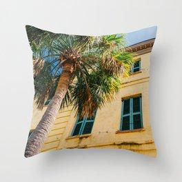 Charleston Palm Tree IV Throw Pillow