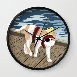 Pirate Cat Wall Clock