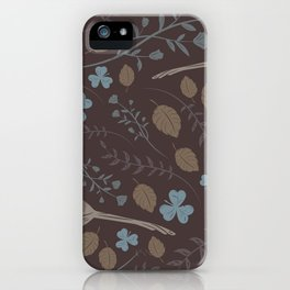 Birds & Blooms Patterns iPhone Case
