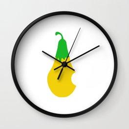 Pear Hunger Wall Clock