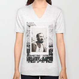 Hipsters from 1970. Unisex V-Neck