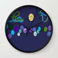 miles davis Wall Clocks featuring Miles Ahead  by David Corneail