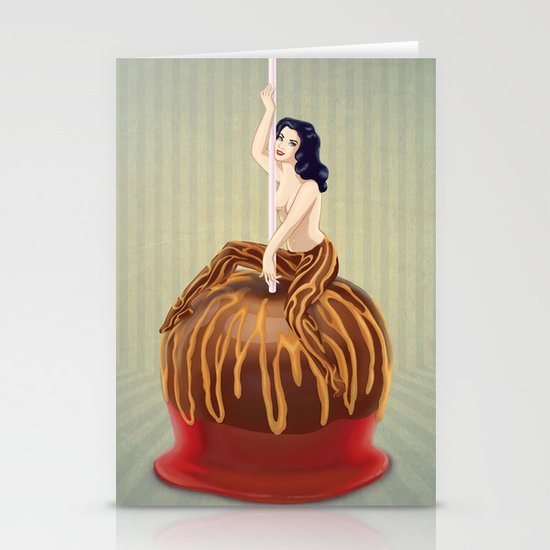 Candy Apple Girl Stationery Cards