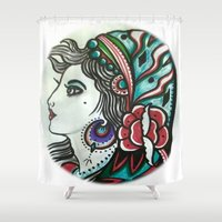 gypsy Shower Curtains featuring Gypsy by David Ansted, Kosoof.