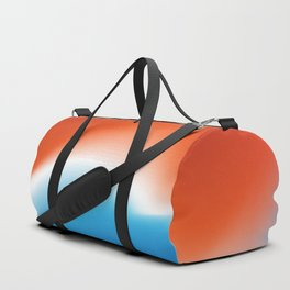 Blue and Red - Abstract Beach Design Duffle Bag