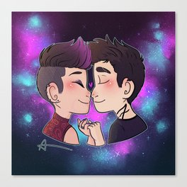 Galaxy Kiss Canvas Print