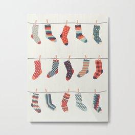 Don't Waste Time Matching Socks Metal Print