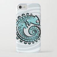 chameleon iPhone & iPod Cases featuring chameleon by Erdogan Ulker