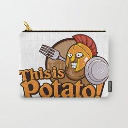 Potato Spartan Warrior Cartoon Carry-All Pouch