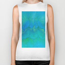 Mermaid Scales Blue Green Light 2 Biker Tank