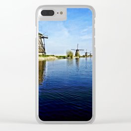 Windmills Holland Clear iPhone Case