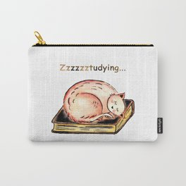 Studying Cat Carry-All Pouch