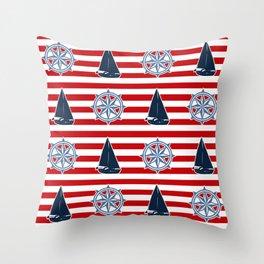 Nautical design Throw Pillow