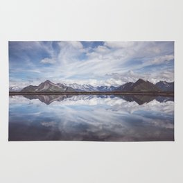 Mountain Lake Reflection Rug