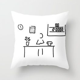 administration office Throw Pillow
