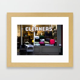 west village cleaners Framed Art Print