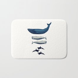 Whale Counting 123  Bath Mat