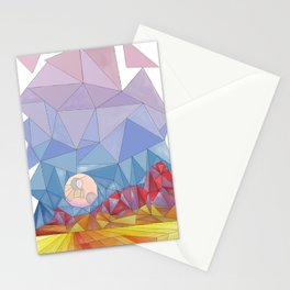 Moon Rise and Red Rocks Stationery Cards