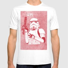 Storm Trooper Mens Fitted Tee White MEDIUM