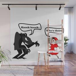 Knock knock Wall Mural
