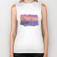 skyline Biker Tanks featuring Skyline  by Astralview