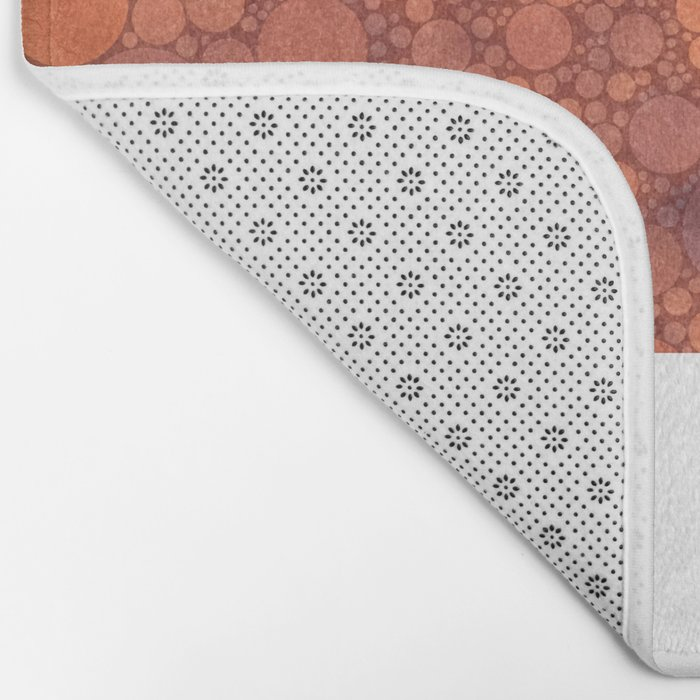 Percolated Sunset in Warm Tones Bath Mat