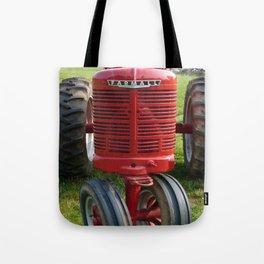 Red Farmall Tractor Tote Bag
