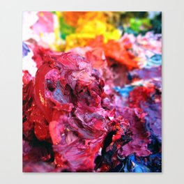 Pink Paint Glob Canvas Print