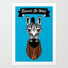 Zebra Beard Art Print