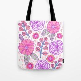 Marker Floral Tote Bag