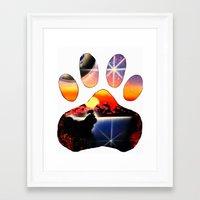shih tzu Framed Art Prints featuring Love My Shih Tzu by Sandy Malina Williamson