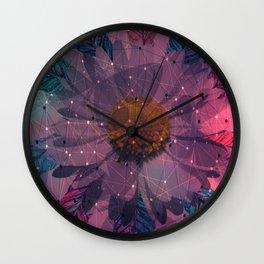 Geometric Flower Wall Clock