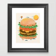 Burgerland Framed Art Print