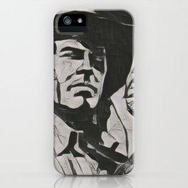 Tex Willer Artistic Illustration Guernica Style iPhone Case