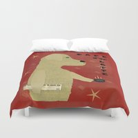 lab Duvet Covers featuring Le Lab d'or by bri.buckley