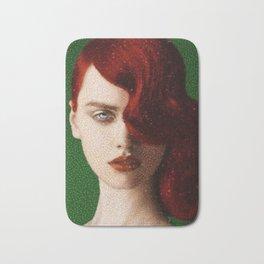 Bet Everything on Red - Female Portrait by Jeanpaul Ferro Bath Mat