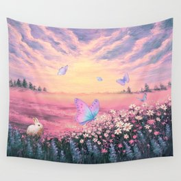 Somewhere Between Earth and Heaven Wall Tapestry