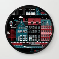 copenhagen Wall Clocks featuring Copenhagen by koivo