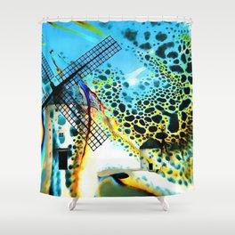 Windmills of La Mancha Shower Curtain