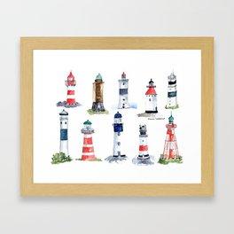 Swedish lighthouses Framed Art Print