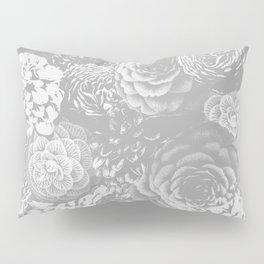 Moody Florals in Grey Pillow Sham