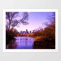 central park Art Prints featuring Central Park by Anna Andretta