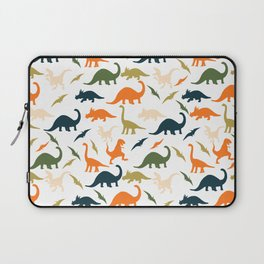 Dinos in Pastel Green and Orange Laptop Sleeve