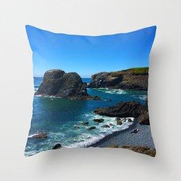 Coastal Wave Throw Pillow